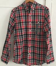 Mens GAP Cotton Checked Slim Fit Shirt Size Small - New with sticker on front