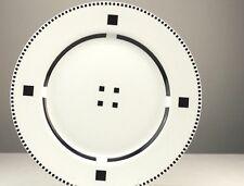 "Swid Powell Gwathmey Siegel Tuxedo Black 12"" Dinner Service Plate"