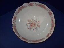 """Remington Fine China by Red Sea Round Vegetable Serve Bowl 8 1/2"""" Scalloped~ EXC"""