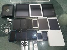 24 Mixed apple iphone, ipod and tablet lot for parts or repairs.