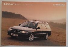 SUBARU Legacy 2.0 litro ESTATE ORIG 1998 UK MKT COLORI E FINITURE BROCHURE-LX GLS