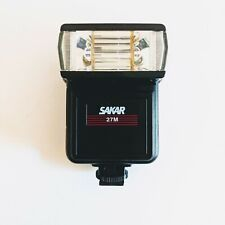 Sakar Model 27M Camera Flash Hot Shoe Mount Electronic Flash - Tested and Works