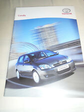 Toyota Corolla range brochure Feb 2006 Irish market