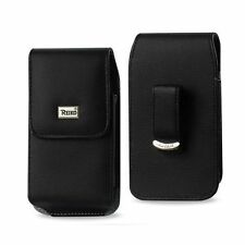 Vertical Leather Pouch Clip For Samsung Galaxy S6 W/ Otterbox Lifeproof Case On