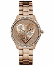 Guess Women's Rose Gold Tone Stainless Steel Bracelet Watch U0910L3