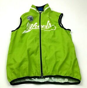 NEW Primal Cycle Jersey Wind Shirt Size Small S Adult Green Full Zip Sleeveless