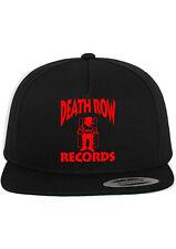 DEATHROW RECORDS CUSTOM SNAPBACK HAT FLAT BILL ADJUSTABLE CAP NEW - BLACK w/ RED