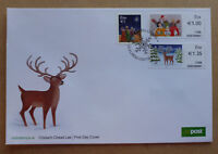 2017 IRELAND CHRISTMAS 3 STAMPS STAMP ISSUE FDC FIRST DAY COVER