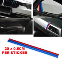 3 M-Colored Stripe Car Sticker Grille Decal for BMW Series Cars Parts M-Power