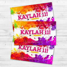 10 Art Painting Paint Brush Splatter Party Favors Personalized Thank You Tags