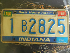 plaque immatriculation  usa 1989 indiana license plate old americaine