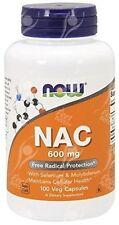 Now Foods, Nac, N-acetil cisteína, 600 mg x100vcaps; - Desintoxicación-Hangover