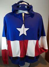 NEW Marvel Captain America Zip Jacket Long Sleeve With Hood Men's Size Medium