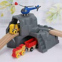 Plastic Double Tunnel Wooden Train Track Accessories For Tunnel Track Train Toy