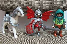 Playmobil - Blister 5909 - Medieval Caballeros del Dragon Caballo - (COMPLETO)