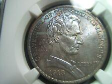 1918 Lincoln Illinois Silver Commemorative Half Dollar NGC MS66 WOW Color!!!