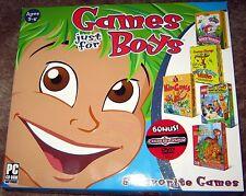 Games Just for Boys & BONUS! v.5 (5PC-CDs+1DVD, 2006) Windows - NEW in BIG BOX