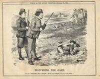 Vintage Punch Political Cartoon September 1876