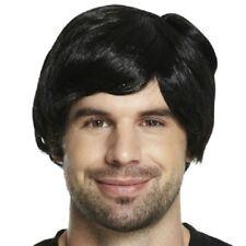 Adult Mens 60s 70s 80s Short Boy Band Wig Fancy Dress Accessory Male Fun U36 045