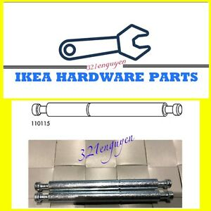 """2 IKEA Assembly Dowel Double Cam Lock Rod 3 3/8""""  fits Brimnes Bed Part # 110115"""