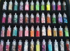 12pc Little Glass Bottles Fairy Dust Pendant Charm *SUPER CUTE* HUGE MIX LOT!