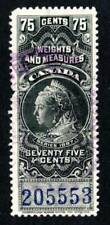 Canada Weights & Measures Stamp ~ Victoria ~ Van Dam FWM 50a ~ Used