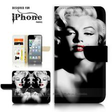 ( For iPhone 7 Plus ) Wallet Case Cover P21326 Marilyn Monroe