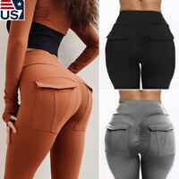 Nihsatin Womens Fitness Yoga Shorts High Waist Side Ruched Butt Push Up Hot Pants