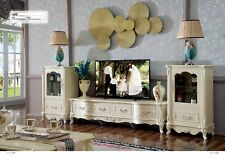 Classic Wall Unit Glass Cabinets Shelf Living Room Baroque Style Wohnwände New