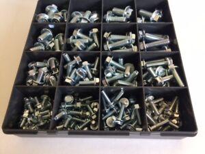 High Tensile Steel Hex Flange Bolts Assorted M6 M8 M10 M12 DIN 6921 Kit 229 pcs