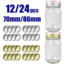 Split-Type Lids Rings Sealing Storage Solid Cap for Regular/Wide Mouth Mason Jar
