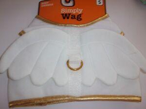 White ANGEL WINGS Dog Harness S New Simply Wag no choke costume Christmas small