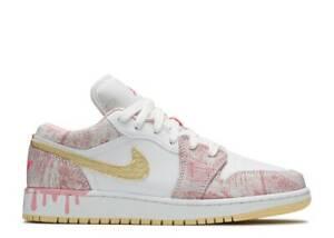 Nike Air Jordan Retro 1 LOW Paint Drip Ice Cream GS Arctic Punch CW7104-601