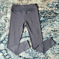 Kyodan Womens Size Large Full Length Athletic Leggings Heather Gray High Waisted