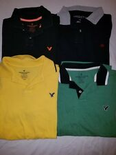 NICE LOT 4 AMERICAN EAGLE  Aeropostale S/S  POLO  SHIRTS MENS L