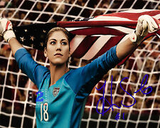 "Hope Solo American soccer goalkeeper 10""x 8"" Signed Color PHOTO REPRINT"