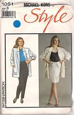 Style Sewing Pattern 1061, Vintage Michael Kors Jacket Pants Top, Size 8 Uncut