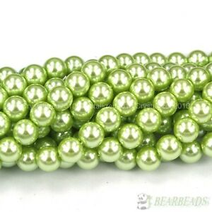 """Top Quality Czech Glass Pearl Round Beads 3mm 4mm 6mm 8mm 10mm 12mm 14mm 16"""""""