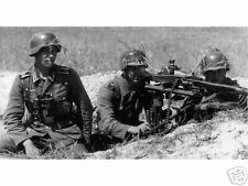 WW2 Photo, German MG42 in Action Wehrmacht World War Two Germany WWII /SMG42