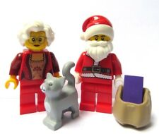 LEGO Santa Claus Minifigure Mrs Christmas & Grey Cat Kitten Xmas Stocking Filler