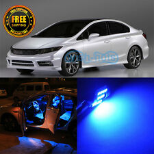 Premium Blue LED Interior SMD Package Lights 6 Pieces Fit 2006-2012 Honda Civic