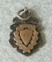 ANTIQUE STERLING SILVER  / GOLD FOOTBALL MEDAL- 1907- NORTH SCOTLAND JUNIOR F.A
