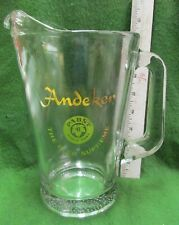 "Nos "" Andeker "" Pabst Glass Beer Pitcher"