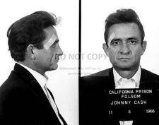 "JOHNNY CASH ""MUG SHOT"" AT FOLSOM PRISON IN 1966 - 11X14 PUBLICITY PHOTO (LG174)"