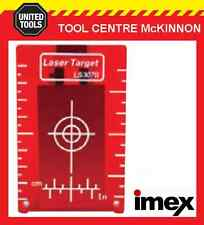 IMEX RED BEAM MAGNETIC LASER TARGET PLATE FOR ROTARY AND LINE LASERS