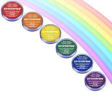 18ml SNAZAROO FACE/BODY PAINT (RED ORANGE YELLOW GREEN BLUE PURPLE) RAINBOW SET