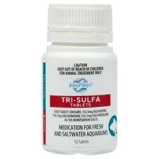 Blue Planet Tri-Sulfa Tablets 15pk Fish Medication White Spot Fungus Tail Rot