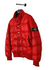 Original Stone Island Garment Dyed Down Red Men Jacket in size XL