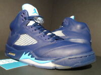 NIKE AIR JORDAN V 5 RETRO HORNETS PRE-GRAPE NAVY BLUE TURQUOISE WHITE BLACK 10.5