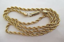 """14k Yellow Gold Italy Rope Chain Necklace 20 5/8"""" long"""
